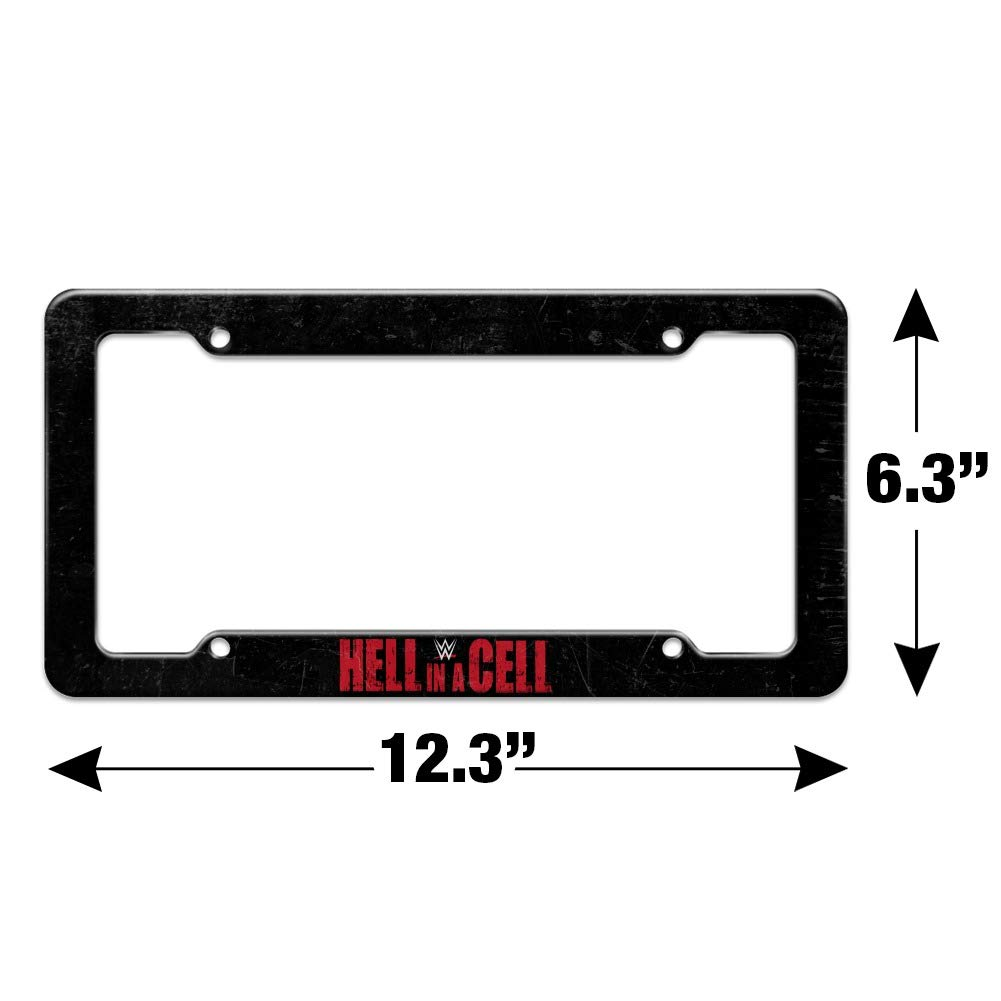 Graphics and More WWE Hell in a Cell Logo License Plate Tag Frame