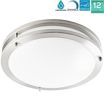 Luxrite 12 Inch LED Flush Mount Ceiling Light, 18W, 5000K Bright ...