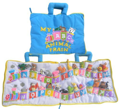 (Pockets of Learning My ABC Animal Train Travel Bag, Activity Busy Book for Toddlers and Children for Children, Alphabet Quiet)