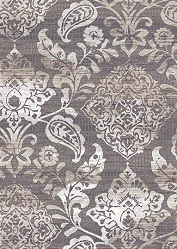 Symphony Area Rug (5'2'' X 7'6'') Design 27004 Taupe Ivory Beige Cream Floral Paisley Rug for Bedroom, Living Room, Dining (Symphony Taupe Rug)