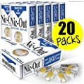 Filters Cigarette Packs 20 TOTAL NIC-OUT Zen Tubes Nic Tar Out Rolling Less Tar and Nicotine (600 Filters)