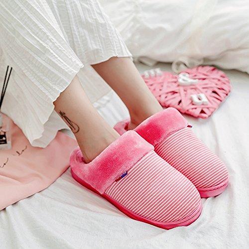Cwaixxzz Suave Zapatillas De Invierno Cálidas Zapatillas De Algodón Zapatos De Interior Vida Cómoda Y Suaves Zapatillas De Felpa Antideslizantes Parejas, Zapatillas De Hombre, 36-37 (por Lo General 34-36), Ver