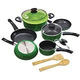 Ecolution Elements 12-Piece  Cookware Set, Green