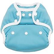 The Ritornello Multi-Size Cloth Diaper Cover from Newborn to Toddler (Aqua)
