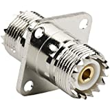 DHT Electronics RF coaxial coax adapter UHF female to female SO-239 SO239 with panel