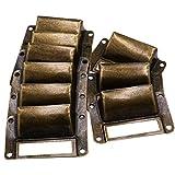 LGEGE 18pcs Bronze Drawer Label Pull Home Cabinet Frame Handle File Name Card Holder /Label Holder/Tag Pull/Cabinet Frame Handle/File Name Card Holder (Length: 66mm Width: 39mm)