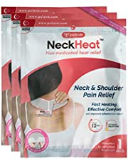 NeckHeat Air Activated Neck & Shoulder Pain Relief Heat Therapy Patch Pack Of 3 Patches Wraps Pads One Size Multi