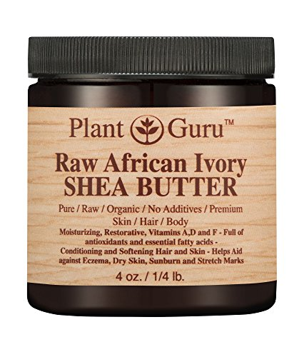 African Shea Butter Raw Unrefined 100% Pure Natural Organic Ivory Grade A - 4 oz - DIY Body Butters, Lotion, Cream, lip Balm & Soap Making Supplies, Eczema & Psoriasis Aid, Stretch Mark Product ()