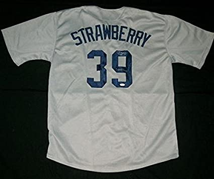 timeless design 21428 1d7e2 Darryl Strawberry Autographed Jersey (yankees) W/Proof - Coa ...