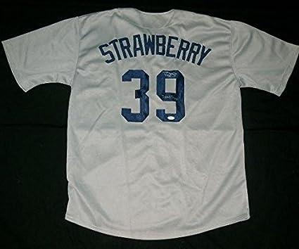 timeless design 04244 14cbe Darryl Strawberry Autographed Jersey (yankees) W/Proof - Coa ...
