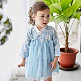 Baby Girl Korean Clothes Long Sleeve Romper Dress