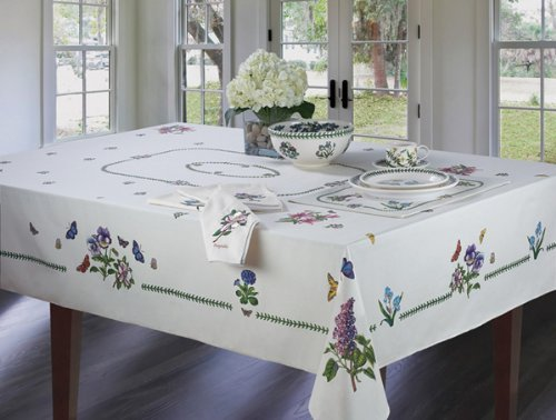 - Avanti Linens Botanic Garden 60X84 Table Cloth, Ivory