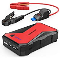 DBPower 1000A Portable Car Jump Starter Battery Booster with LED Flashlight