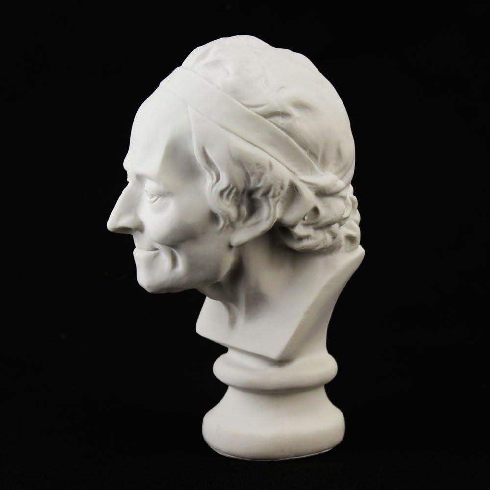 Earlywish Voltaire Buste Sculpture Statue R/ésine Sketch Dessinez le Pl/âtre Artiste Mod/èle D/écor 19,1/cm