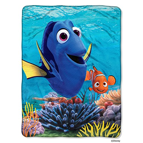 "northwest disney pixar finding dory, deep sea silk touch throw by the company, 46"" by 60"""
