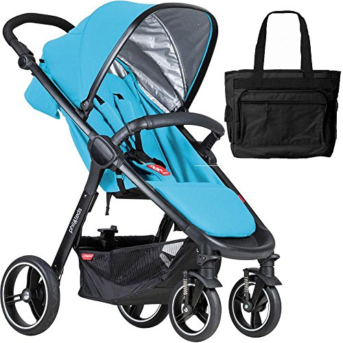 Phil Teds Smart Buggy Baby Stroller With Diaper Bag - Cyan