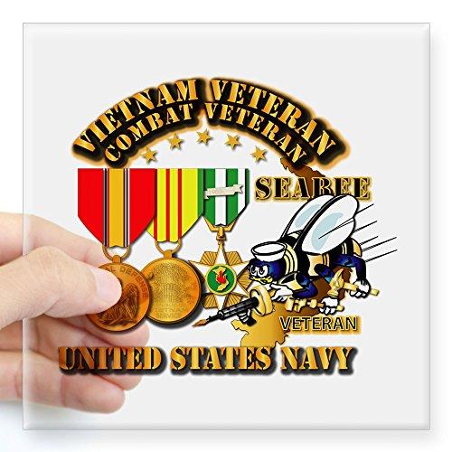 CafePress - Navy - Seabee - Vietnam Vet Square Sticker 3