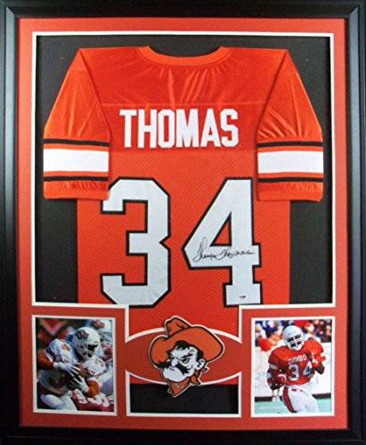 Thurman Thomas Framed Jersey Signed PSA/DNA Autographed Oklahoma State Bills Buffalo