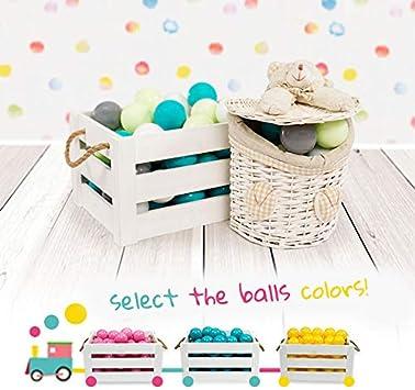 MEOWBABY 100 /∅ 7Cm Palline Colorate per Bambini per Piscina di Palline Fabbricato in EU Turchese//Rosa Scuro//Viola//Lime