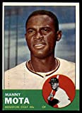 Baseball MLB 1963 Topps #141 Manny Mota EX/NM RC Rookie