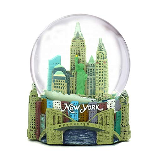 Skyline New York City Snow Globe Souvenir, 3.5 Inches Tall, 65mm