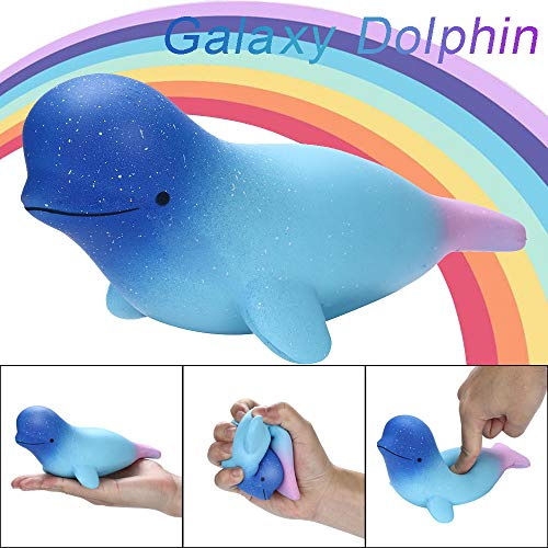 Euone  Squishies Toy Clearance , Cute Galaxy Dolphin Toy Slow Rising Fruits Scented Stress Relief Toys Kids -