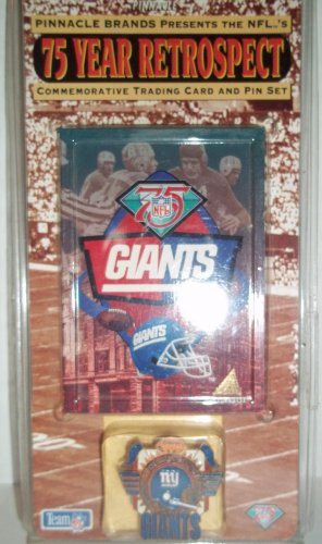 (Pinnacle 1994 NFL's 75 Year Retrospect Commemorative Trading Card and Pin Set - NY Giants)