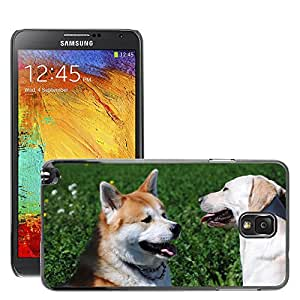 Etui Housse Coque de Protection Cover Rigide pour // M00110207 Akita Labrador Perros // Samsung Galaxy Note 3 III N9000 N9002 N9005