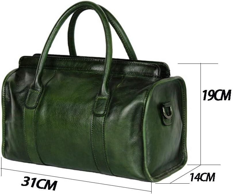 Donna Elegante Borsetta Borsa Spalla Borsa Borsetta Diagonale Borsa Fashion Elegant Design Vintage, Chiusura con Cerniera Viaggio(Rosso/Nero/ Marrone/Verde) Green