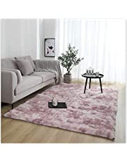 RUNYA Rug Living Room Large Soft Faux Fur Sheepskin Area Rug Modern Shaggy Carpet