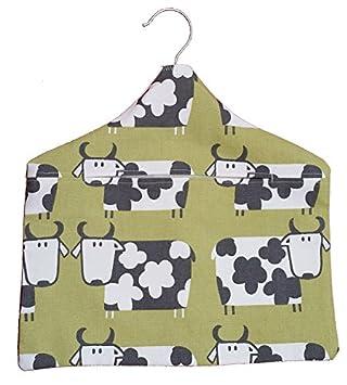Hecho a mano contemporáneo Quirky diseño de vaca Peg bolsa ...