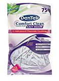Dentek Comfort Clean Floss Picks | Silky Ribbon Floss to Remove Food & Plaque | 75 Picks | Pack of 6