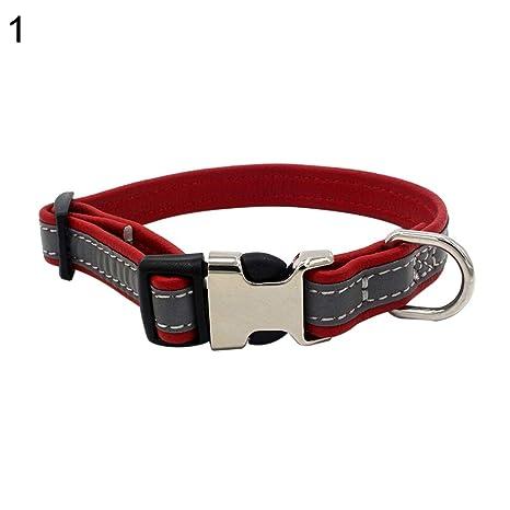 Amazon.com: JYS365 Collar reflectante para perro, con ...