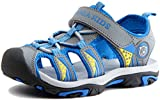 PPXID Boy's Girl's Summer Breathable Close Toe Strap Sandals (Toddler/Little Kid/Big Kid)-Blue 3.5 US Size
