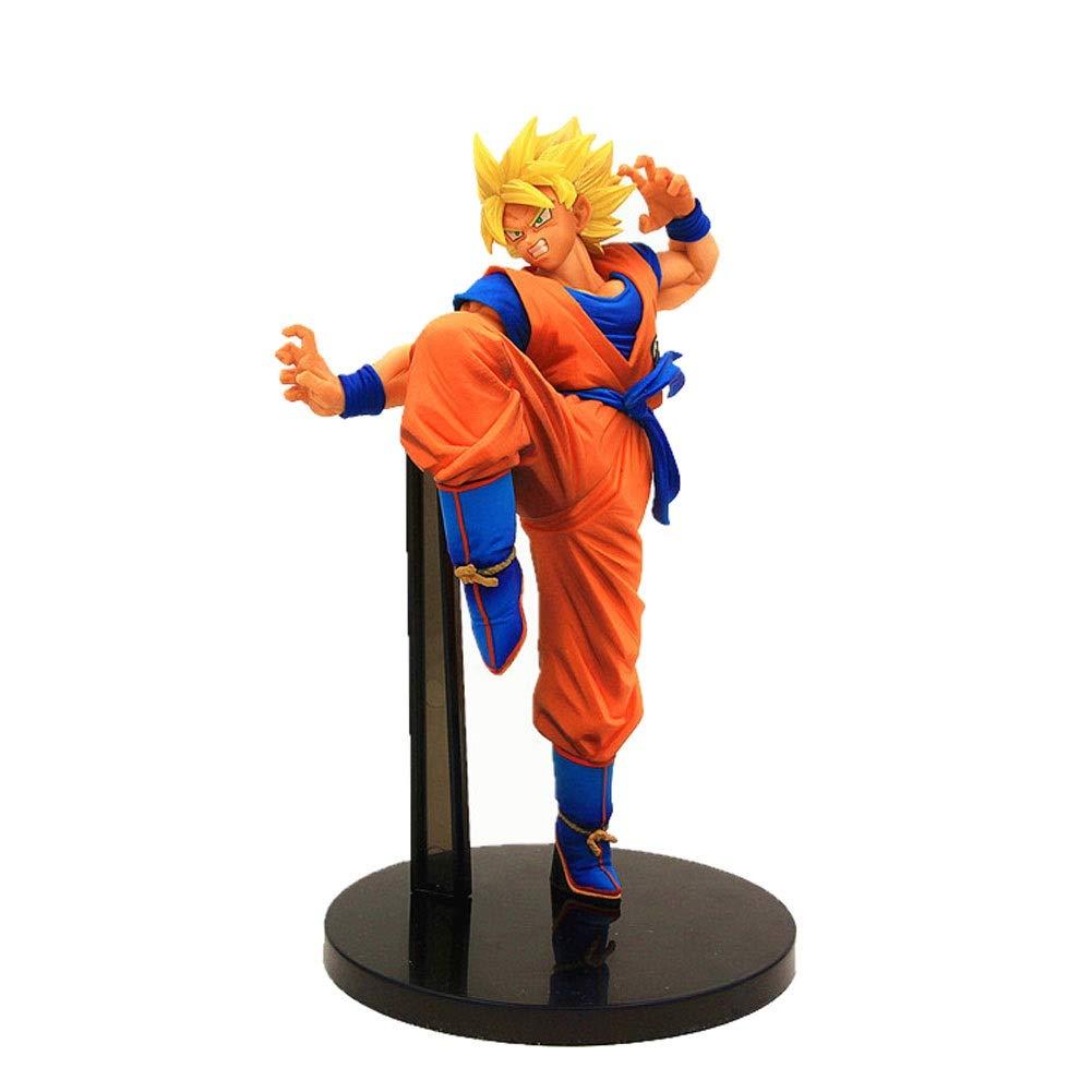 DUDDP Giocattolo Anime Dragon Ball Anime Personaggio Super Saiyan Action Figure Seven Dragon Ball Capelli Gialli One Sun Wukong Anime Personaggio in PVC Statua Modello di Anime