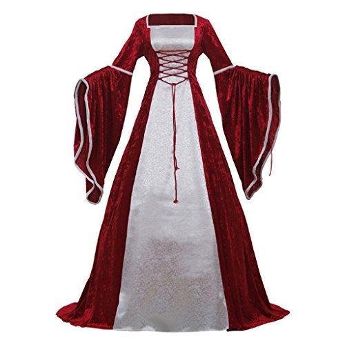 CosplayDiy Women's Fancy Dress Medieval Victorian Lady Costume Dress XS by CosplayDiy