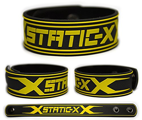 STATIC-X Rubber Bracelet Wristband Static X Cult of Static Cannibal Start a War