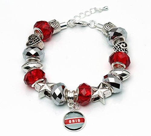 Ohio State Football Large Hole Handmade Bracelet – European Style