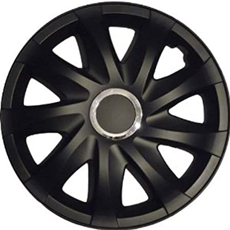 Tapacubos DRF Negro Mate 14 pulgadas compatible con Peugeot 106, 107, 1007, 205, 206, 306, 309, 405, PARTNER: Amazon.es: Coche y moto