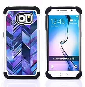 For Samsung Galaxy S6 G9200 - architecture sketch Purple Dual Layer caso de Shell HUELGA Impacto pata de cabra con im??genes gr??ficas Steam - Funny Shop -