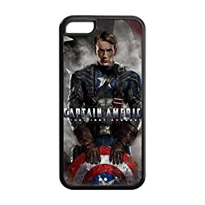 Popular Movie Captain America TPU Protective Case For iphone 5c (Black, White) Kimberly Kurzendoerfer