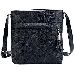 JD Million shop 2017 Fashion Small Tassel Bag Women Messenger Bags Lattice Ladies Crossbody Bag Soft PU Leather Handbag
