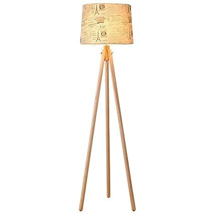 GJIF - Lámpara de pie Lámpara de pie de Madera de Tres Patas ...