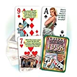 Best Playing Cards In The Worlds - 1958 Trivia Playing Cards: 59th Birthday or Anniversary Review