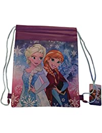 Disney Frozen Anna and Elsa Sling Bag Cinch Bag Non Woven Print Backpack