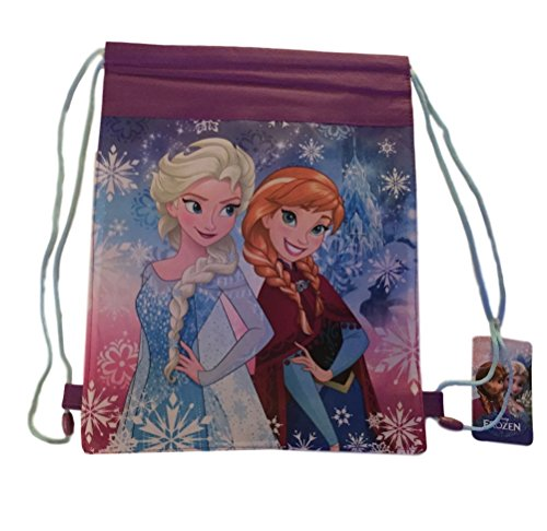 Disney Frozen Anna and Elsa Sling Bag Cinch Bag Non Woven Print Backpack