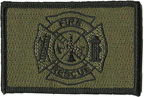- Fire Rescue Tactical Patches - Olive Drab