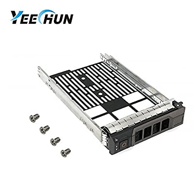 "YEECHUN Brand New 3.5"" SAS SATA Hard Drive Tray Caddy for Dell PowerEdge T330 T430 T630 R230 R330 R430 R530 R630 R730 R730XD R930 MD1400 MD3400 series, Part Number: 0KG1CH KG1CH (Screw Included)"