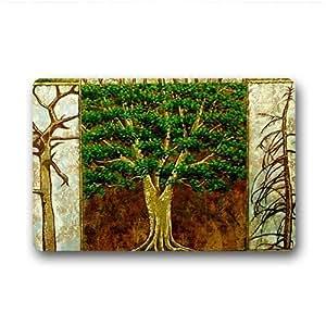 "dalliy Custom árbol de la vida pintura Felpudo al aire libre interior 23.6x15.7""About 59.9cmx39.8cm, tela, A, 23.6"" x 15.7"""