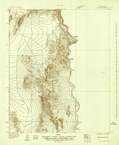 Nelson NV topo map, 1:96000 Scale, 30 X 30 Minute, Historical, 1926, 26.8 x 22 in - Tyvek ()